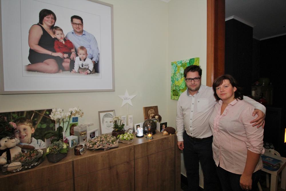 Om hun zoontje te herdenken organiseren Hanne Toye en Valtin Demuynck een benefietactie ten voordele van het Dominiek Savio Instituut in Gits.