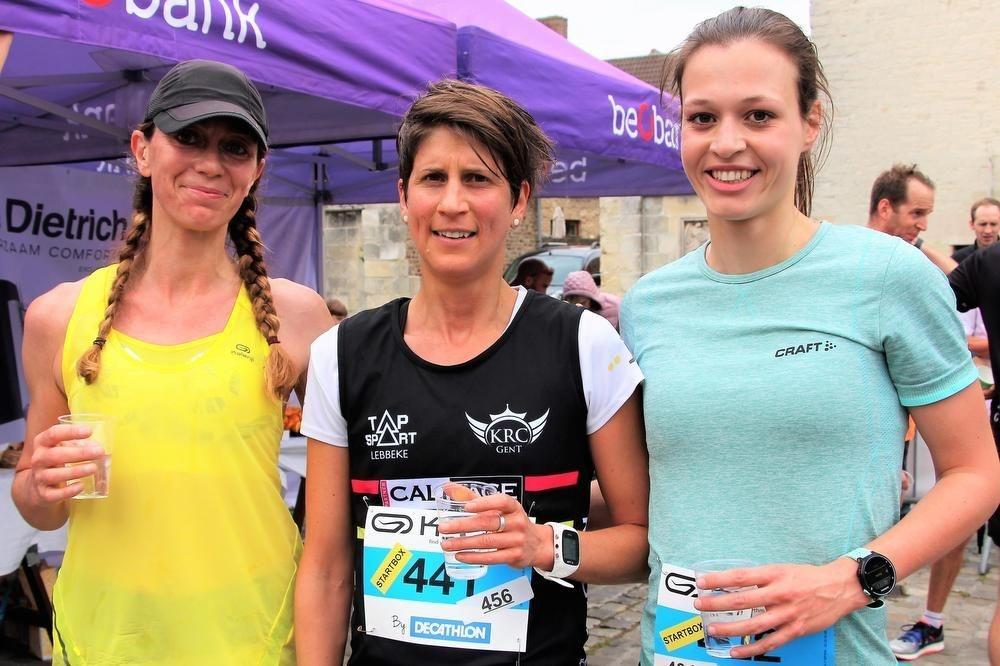 Ann Sofie Claeys (Racing Gent) was de snelste dame op de 10 km.