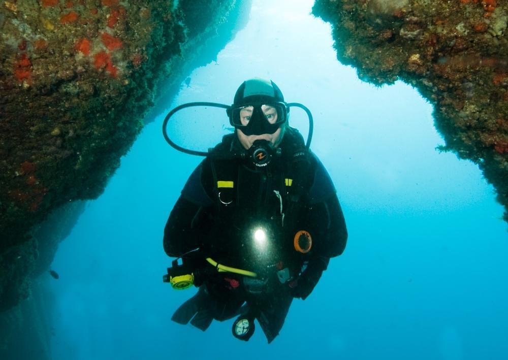 Martine Desitter uit Oostende leidt duikers op in het zonnige Spanje