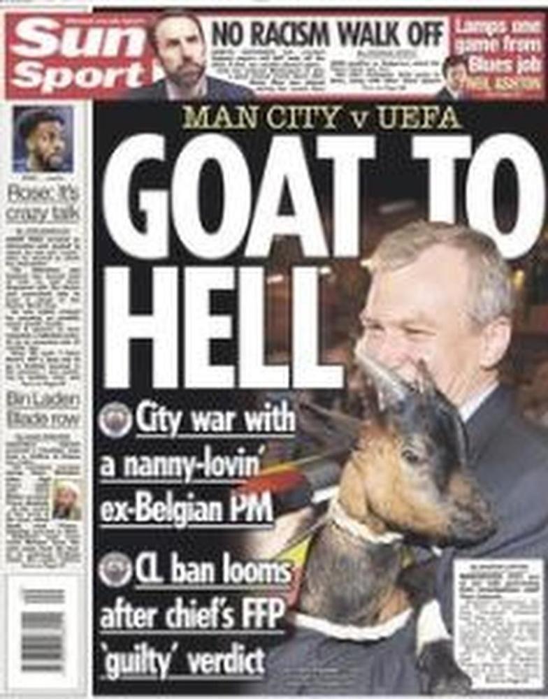 Yves Leterme kop van jut in Engelse tabloid The Sun
