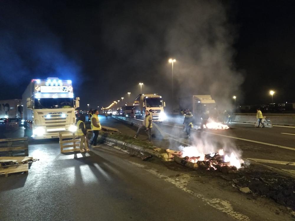 Incidentrijke avond aan grensovergang in Rekkem na actie van gele hesjes