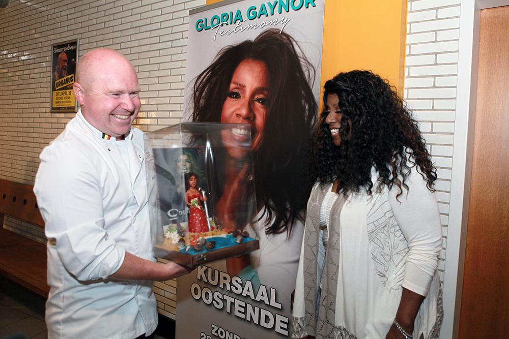 Anthony Lams bij Gloria Gaynor.