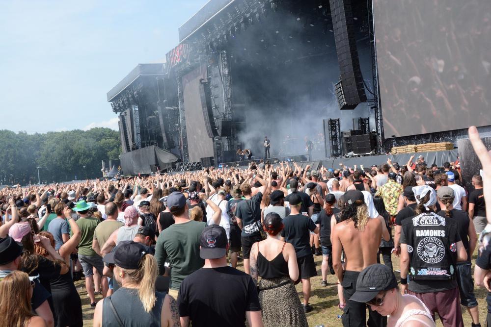 In Flames op mainstage 2. (Foto FODI)