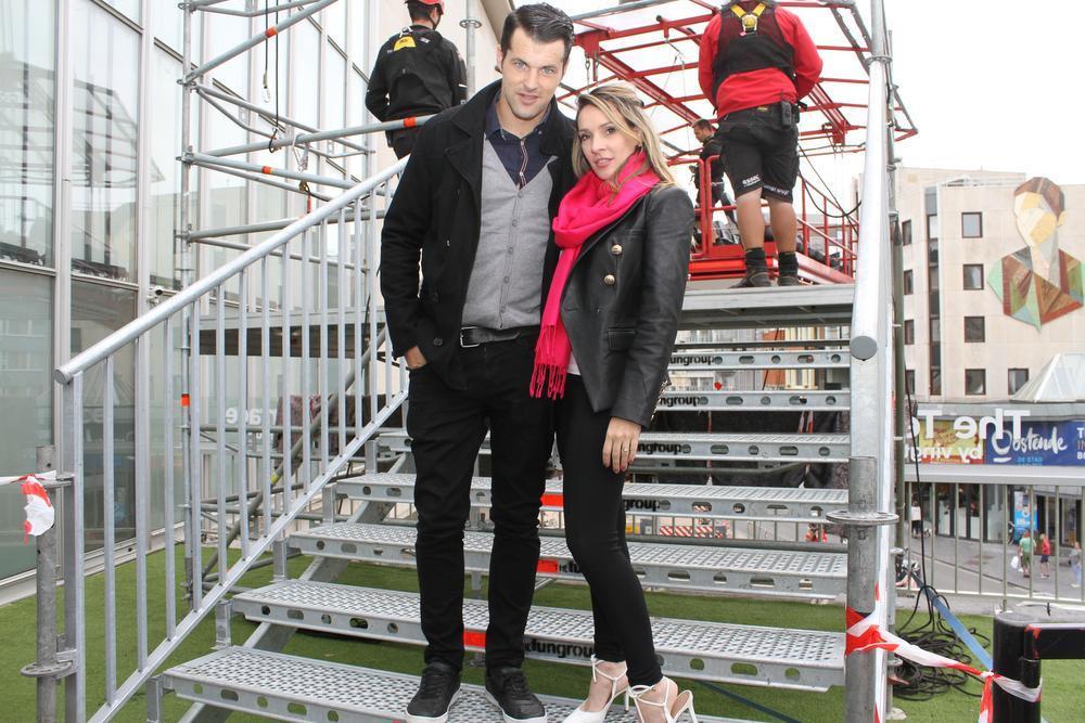 Michiel Decaigny en Gerusa Karoll uit Roeselare vonden het zicht vanuit de 50 meter hoge Skywatch fenomenaal.
