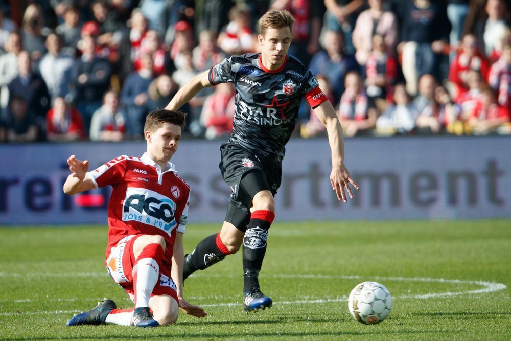 KV Kortrijk - Moeskroen eindigde in 2017 op 0-2. Door die zege konden de Henegouwers zich handhaven in eerste klasse A.