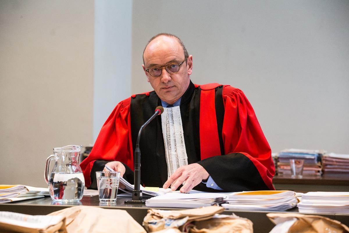 Voorzitter Koen Defoort op het proces. (Belga)