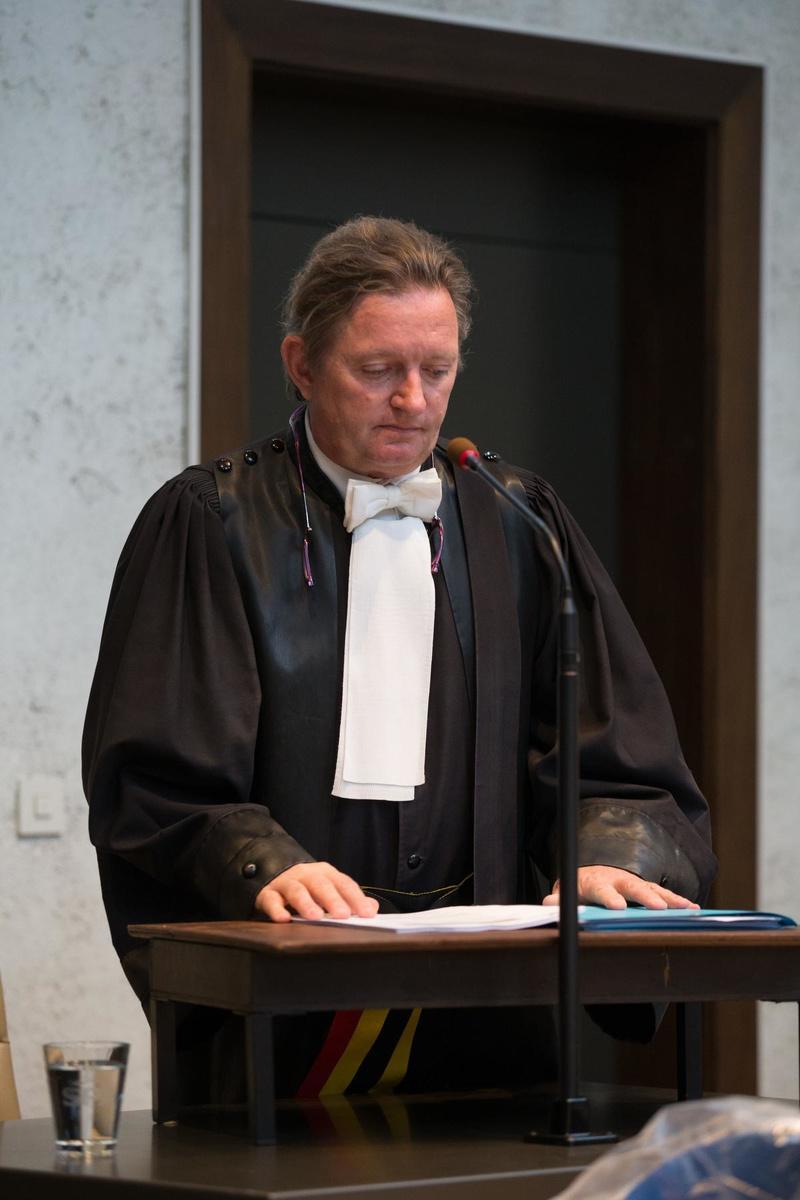 Procureur Tom Janssens tijdens zijn requisitoir. (Belga)