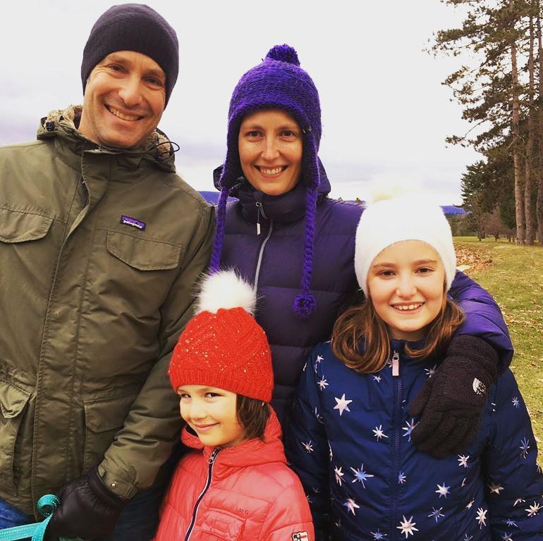 Mieke Haeck en haar gezin.