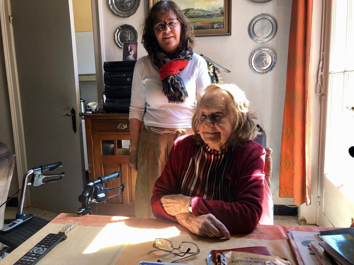 Robertine en jaar dochter Karien.