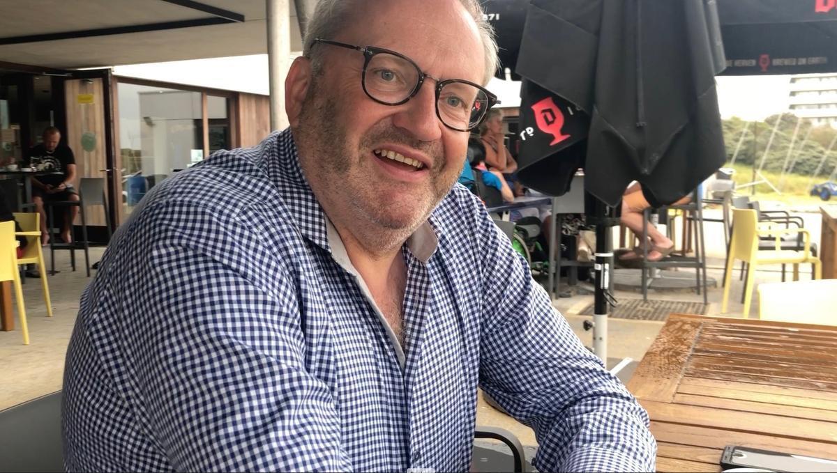 Herman Hillaert, een tweedeverblijver uit Kortrijk, komt al sinds 1978 naar De Panne.