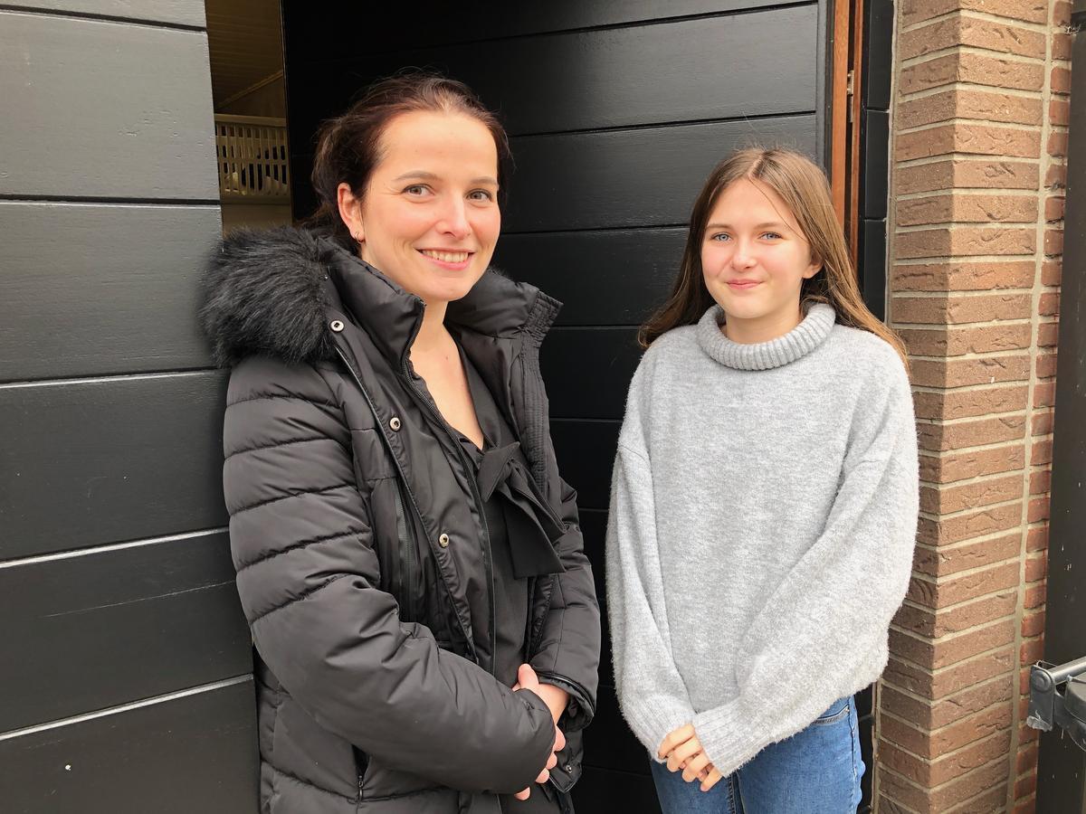 Caroline Ryde en haar dochter Axelle