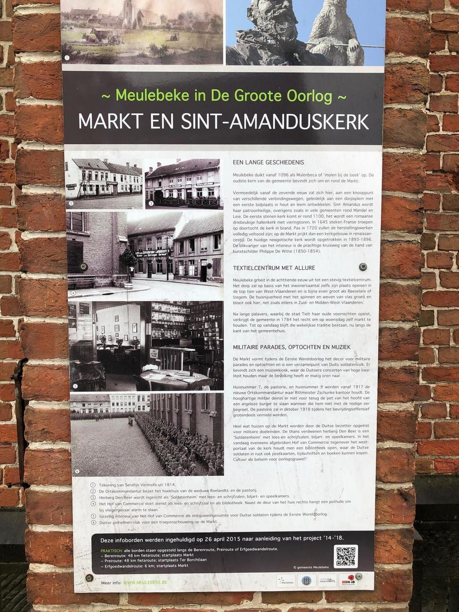 Borden 'Meulebeke in de Groote Oorlog' tonen hoe vreemd het dorp eruitzag toen het bezet werd.