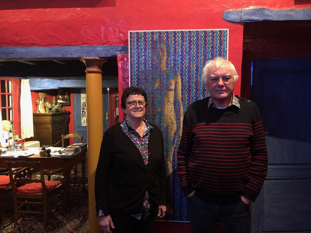 Marie-José Maes met echtgenoot en kunstenaar Rik Vermeersch.