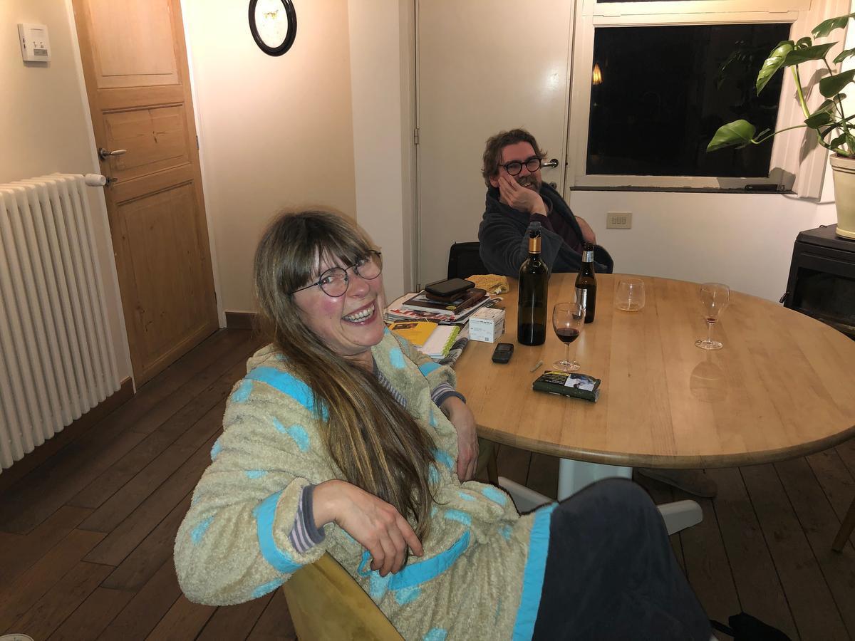 Aan de keukentafel met Greet Desal en Rino Feys.