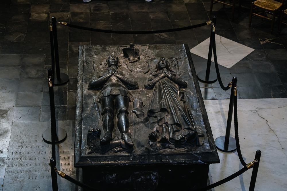 Het praalgraf van Anselm Adornes en zijn echtgenote Margareta van der Banck in de Jeruzalemkerk.