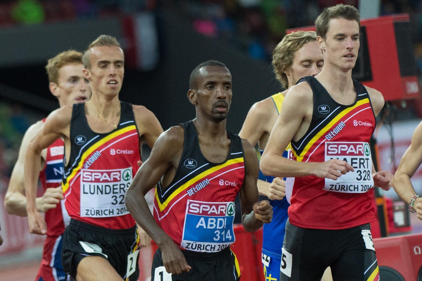 Naert en Abdi kennen elkaar al lang. In 2014 namen ze beiden deel aan de 10.000 meter op het EK in Zürich. Abdi werd vijfde, Naert elfde. (foto Belga)