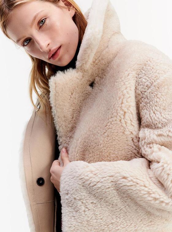 Omkeerbare jas van omgekeerd lam, van Tommy Hilfiger.