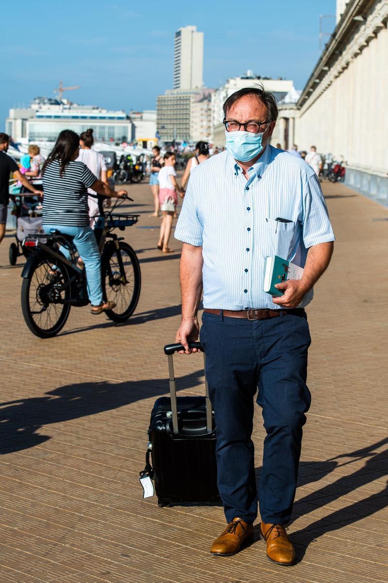 Jan Gheysen bij zijn aankomst in Oostende.