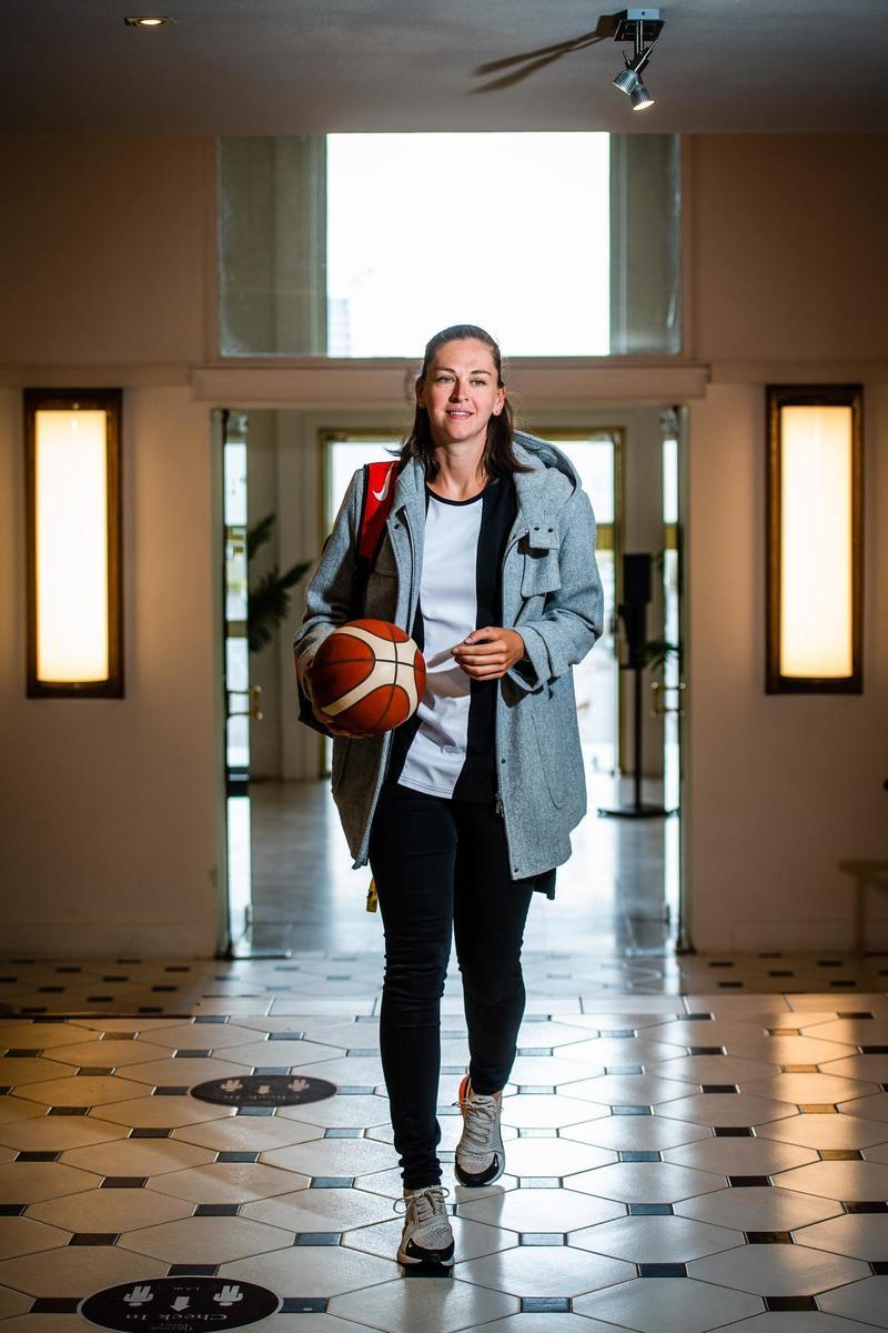 Emma Meesseman, basketbalspeelster bij Washington Mystics. In de States is haar bijnaam Mount Emma.