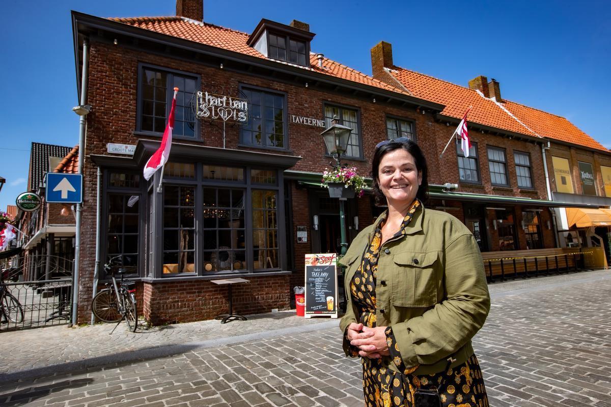 Sandra Albregtse van het restaurant Hart van Sluis: