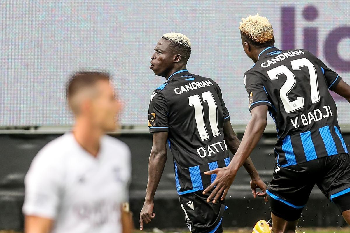 Krépin Diatta en Youssouph Badji: ze voetbalden allebei op hetzelfde veldje in Senegal, nu vieren ze samen een goal tegen Eupen.