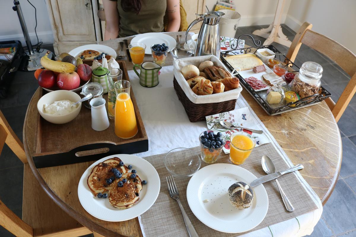 Het ontbijt in B&B In De Velden was telkens heerlijk.