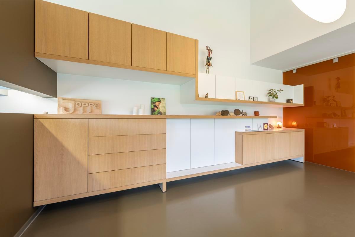 Overal in huis wordt slim omgesprongen met opbergruimte. (Foto Pieter Clicteur)