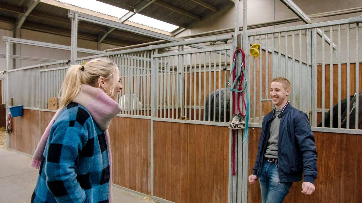An Lemmens bracht nog een laatste bezoekje aan Dries in Zuienkerke. (Foto VTM)