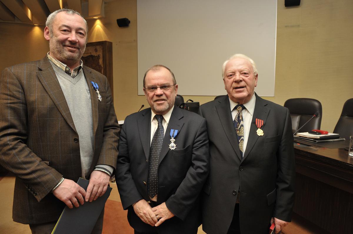 Willy Verledens, hier samen met Frank Duhamel en Dirk Van Walleghem in 2010.