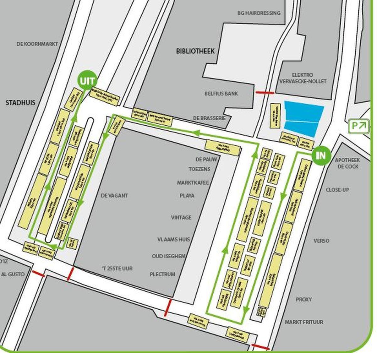 Zaterdag ook markt in Izegem met de nodige maatregelen: