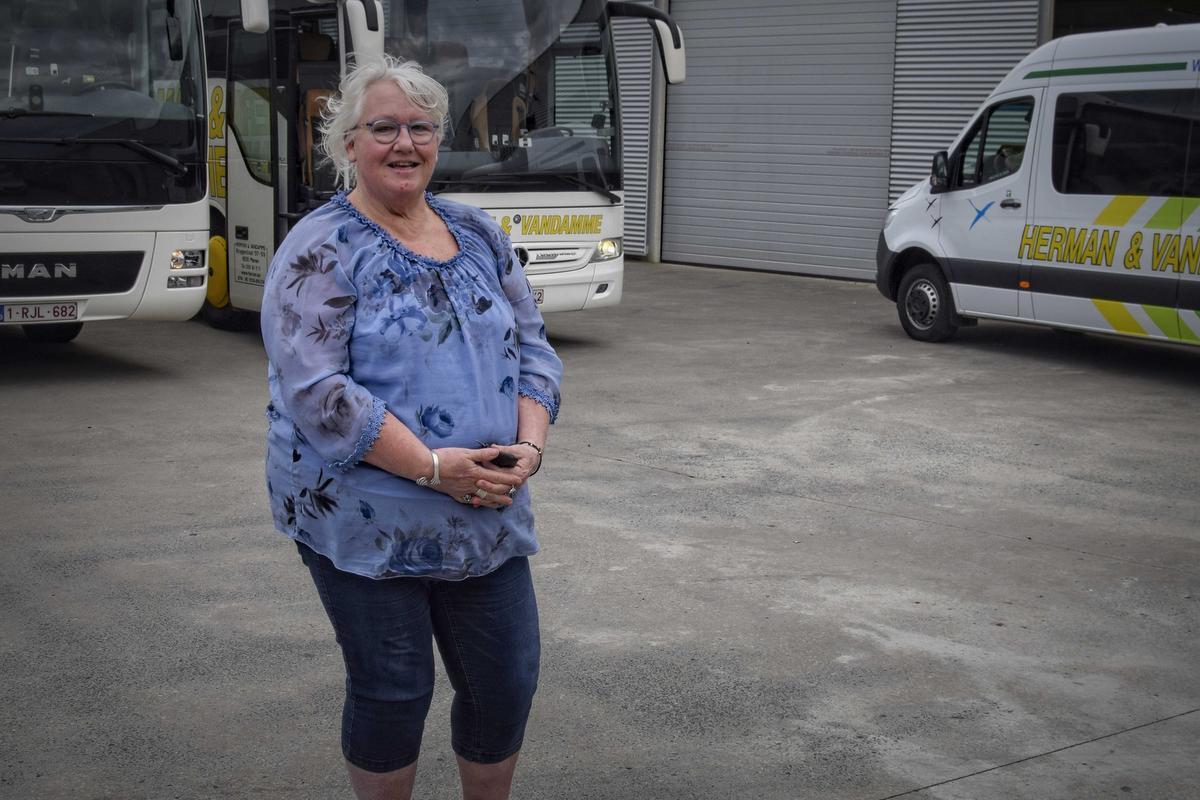 Linda Vergotte is een van de getroffen busschauffeurs.