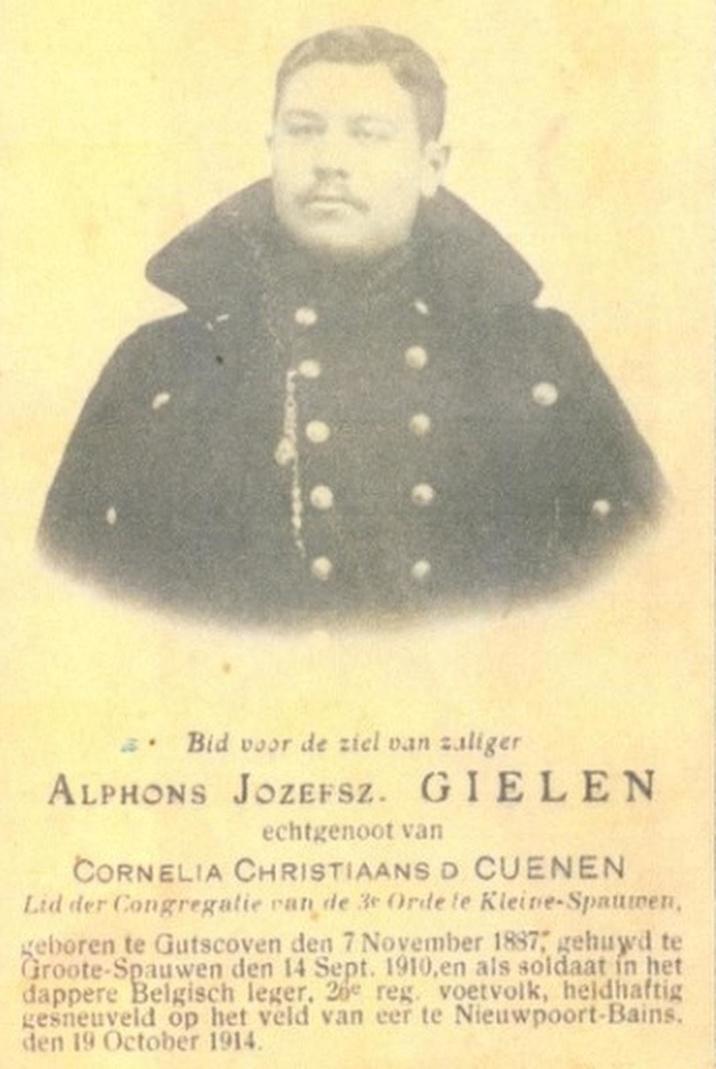 Soldaat Gielen.