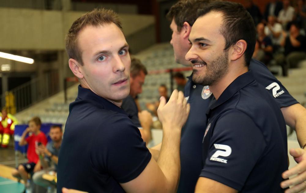 Steven Vanmedegael met zijn assistent-coach Massimo Pistoia.