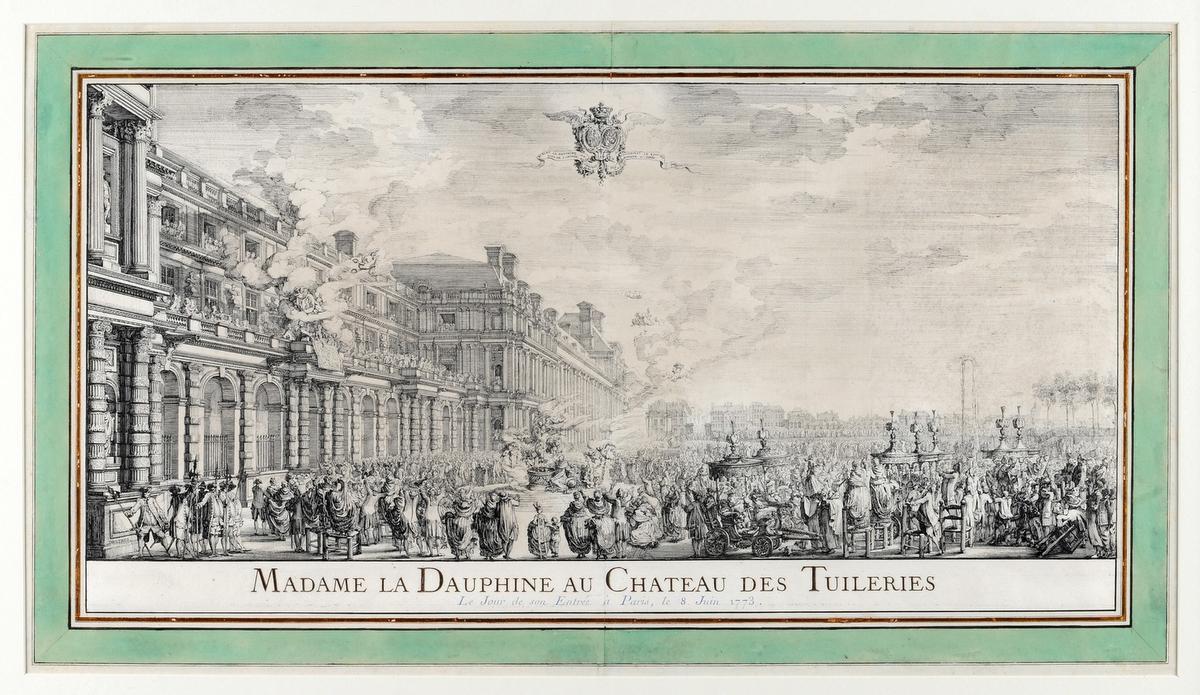 Ook deze grote tekening uit 1773 van Louis-Jean Desprez werd opgenomen op de topstukkenlijst.