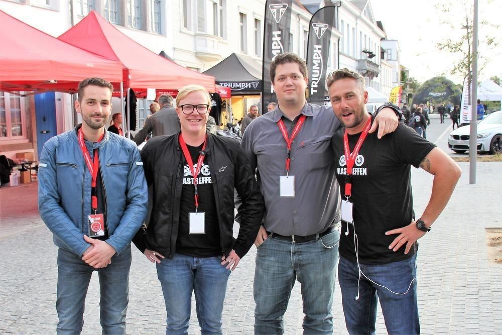 Kevin, Bruno, Maarten en Jo van het huidige bestuur.