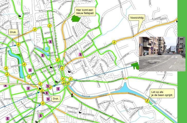 Schoolfietsroutekaarten van provincie West-Vlaanderen voortaan ook online