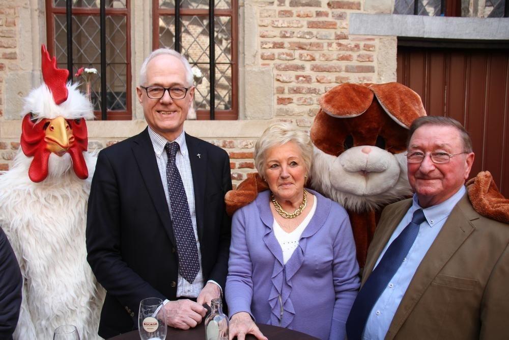 Het echtpaar Jenny Plowy en Roland Schoutteten. Ze leerden elkaar 65 jaar geleden kennen op de Paasfoor.