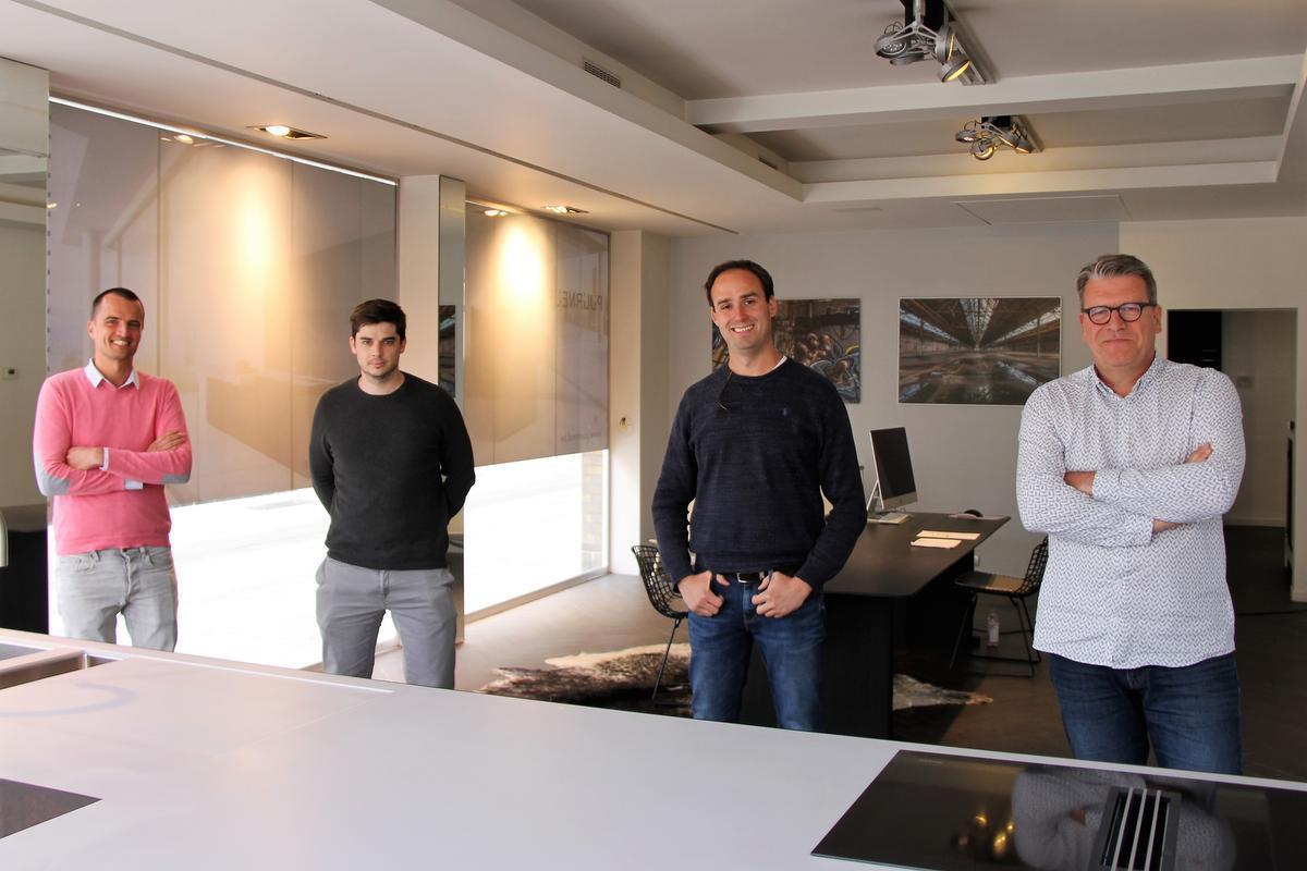 v.l.n.r.: Mathias Delplanque, Jonas Van Poucke, Pieter Theys, Bart Debo