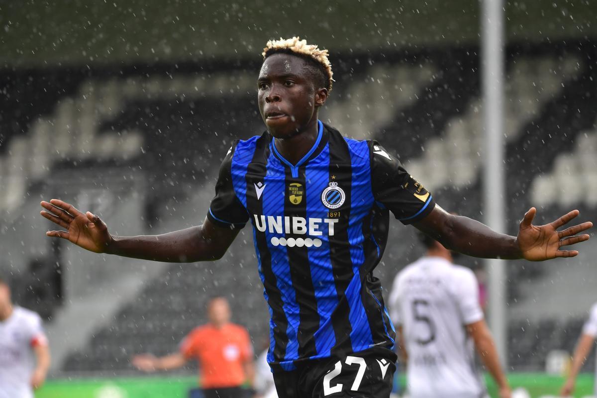 Youssouph Badji na zijn eerste competitiegoal voor Club Brugge.