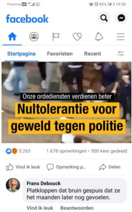 Ruiseleedse schepen slaat mea culpa na racistische uitschuiver op sociale media