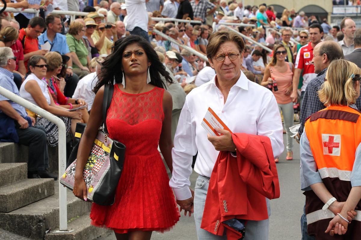 Philip Cracco en Aisha Van Zele op Waregem Koerse in 2013.