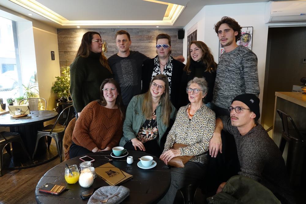 Alle kleinkinderen (Amber, Lieze, Jelle, Emma, Martijn en Iben) zaten mee in het complot.