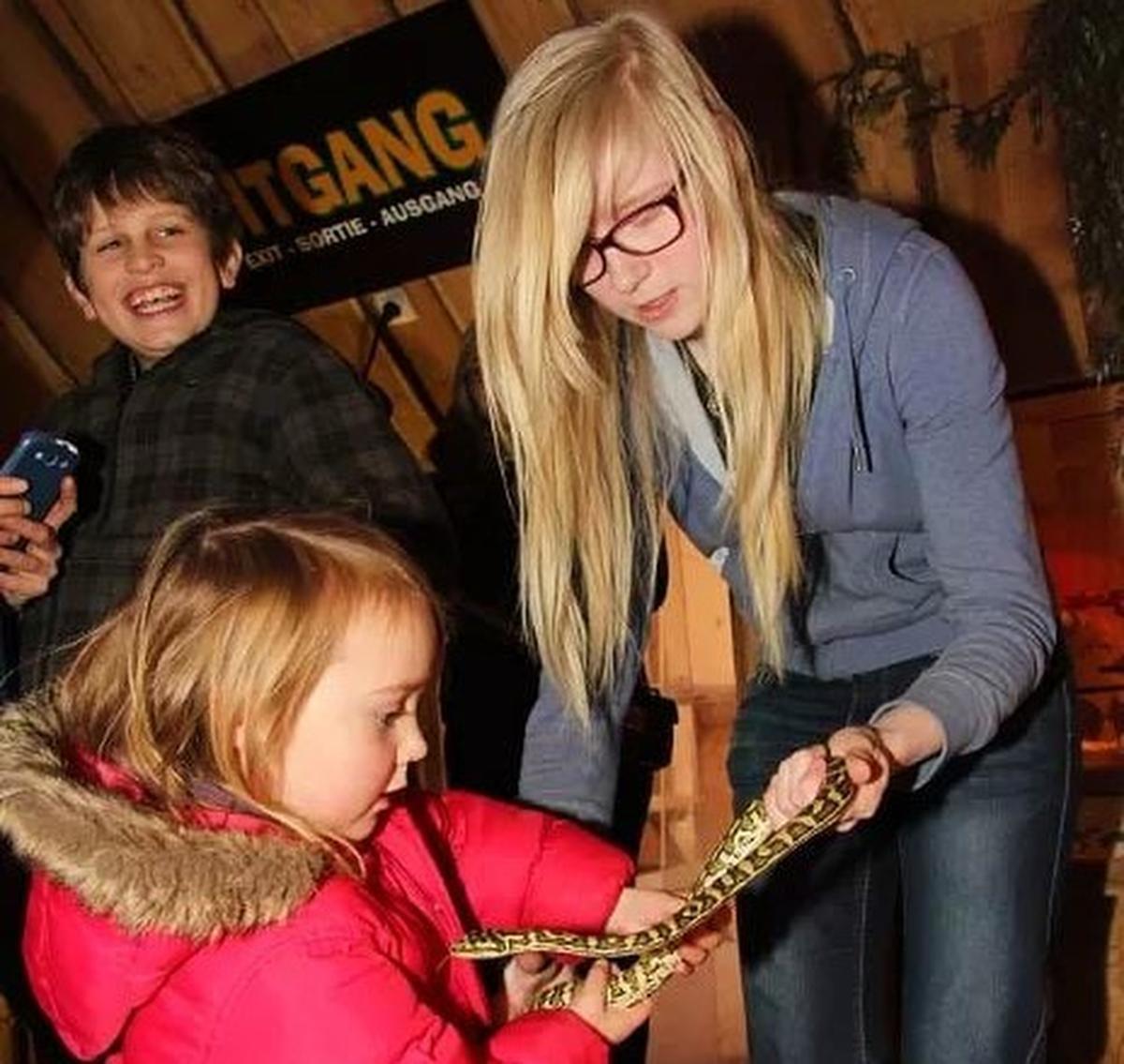 In de zoo komen dagelijks kinderen langs om te leren over slangen en andere koudbloedigen.