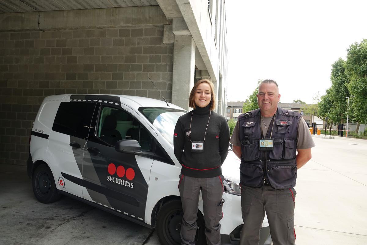 Margot Decocker en Bartje Van Impe van Securitas zijn erg tevreden dat ze geen uur meer hoeven te pendelen van en naar het werk.