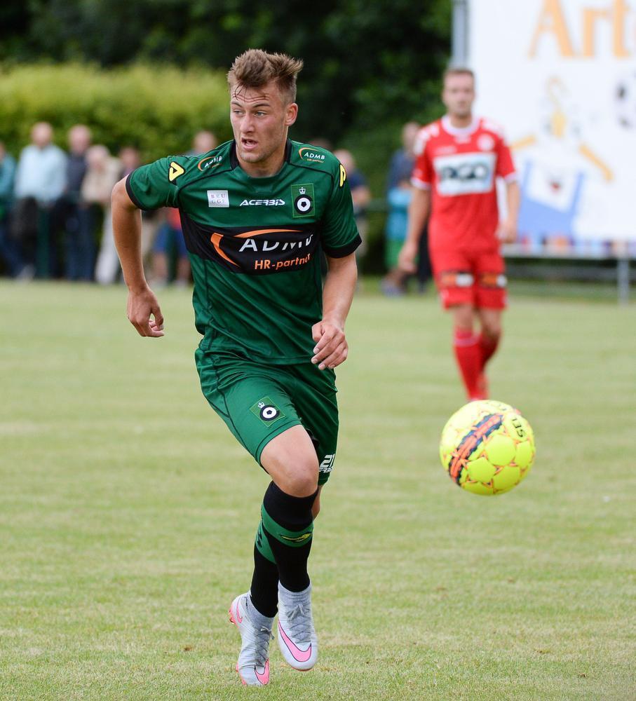 Ayron Verkindere in actie tegen KV Kortrijk.
