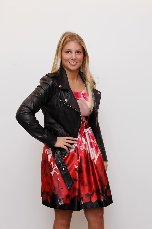 Davinia Verledens is de vriendin van voetballer Aaron Vanfleteren. (Foto a-RN)