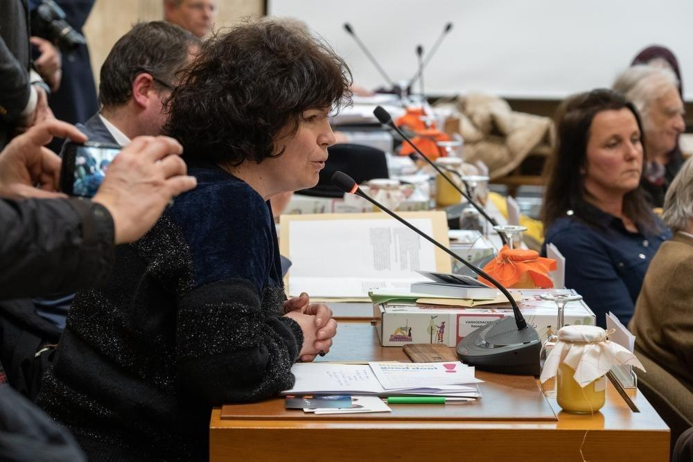 Hannelore Vanhoenacker, de fractieleider van CD&V in de gemeenteraad.