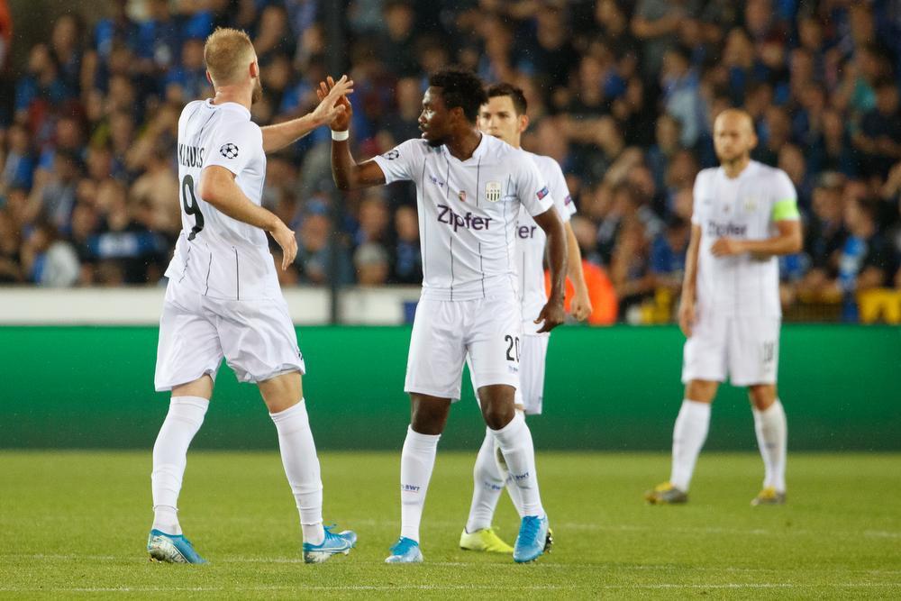 Club Brugge bibbert, maar wint van LASK en mag naar poulefase Champions League