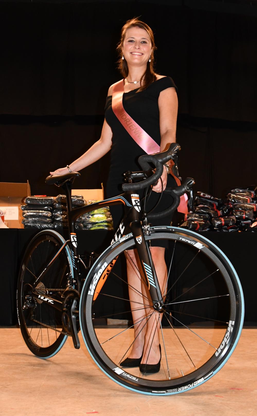 Een Prorace fiets hoort bij de titel van Miss Flandrienne.