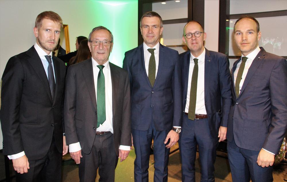 De vernieuwde raad van bestuur van Cercle Brugge met v.l.n.r: nieuwkomer Viacheslav Ivanov, Frans Schotte, Oleg Petrov, Vincent Goemaere en Thomas Tousseyn. (Foto ACR)